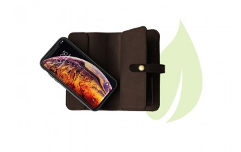 Wallet Comfort for iPhone XS GreenNu - choco brown