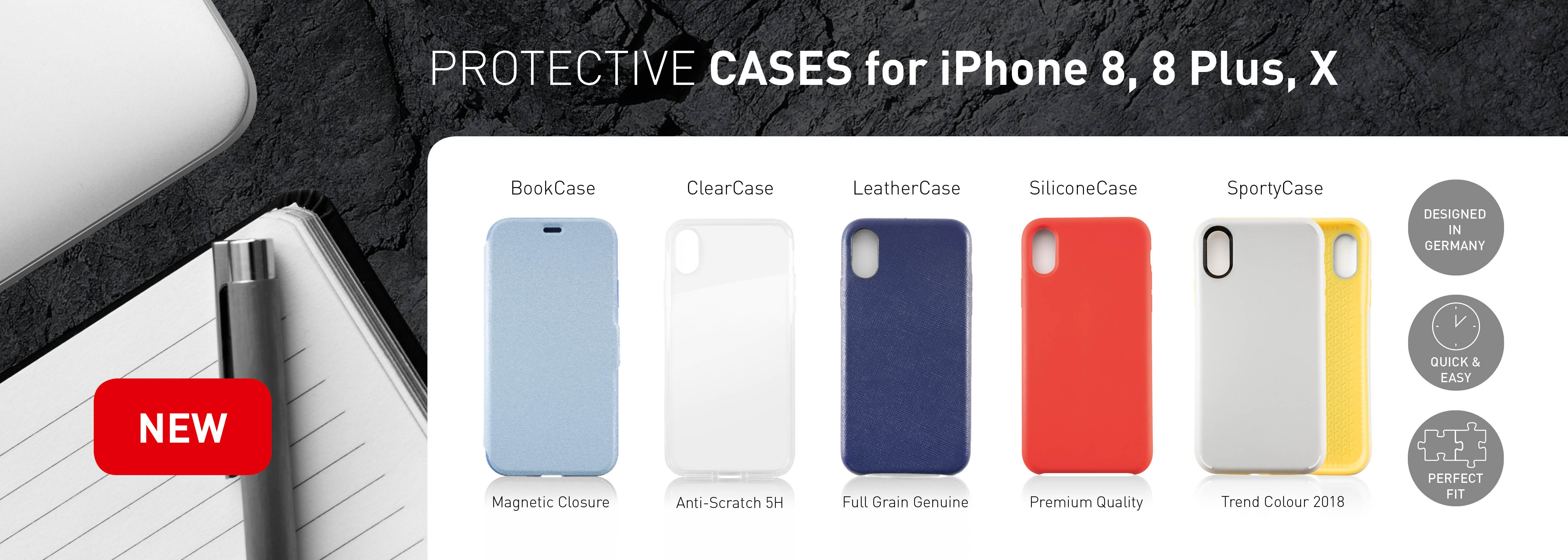 Protetive Cases for iPhone 8, iPhone 8 Plus, iPhone X